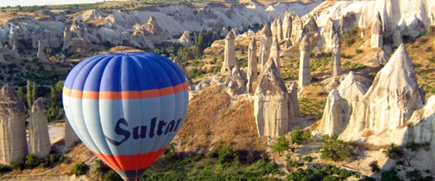 Balonla Kapadokya seyahati