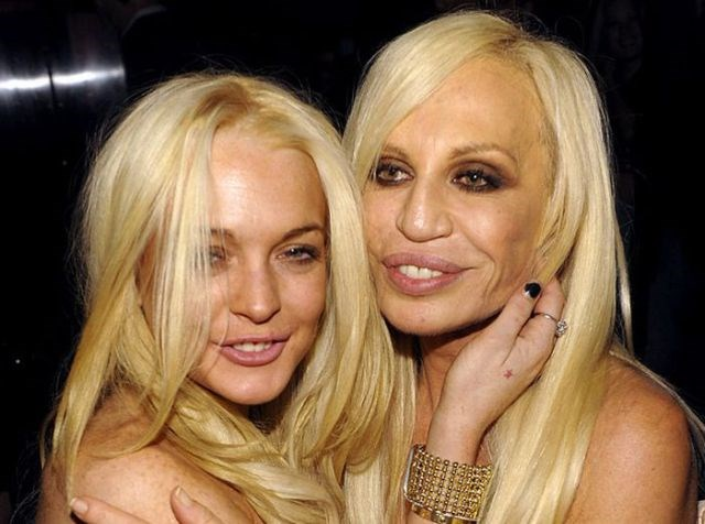 Lindsay Lohan ve Donatella Versace