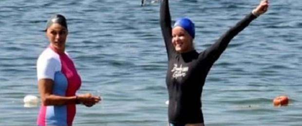 Bo Derek Boğaz'ı yüzerek geçti
