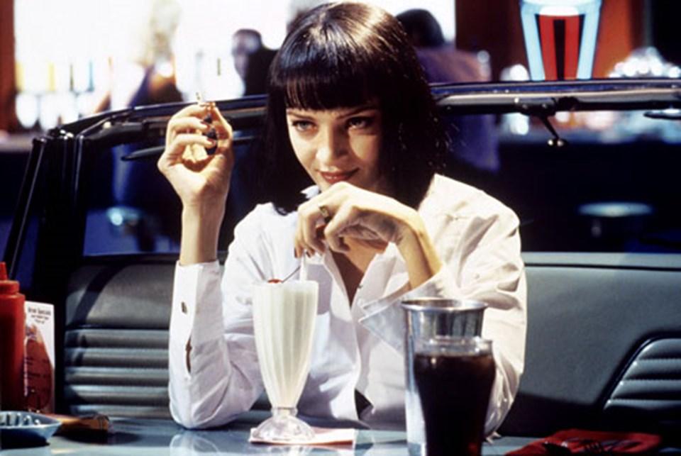 1994 yapımı Pulp Fiction filmindeUma Thurman...