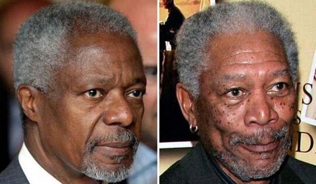 Kofi Anan - Morgan Freeman