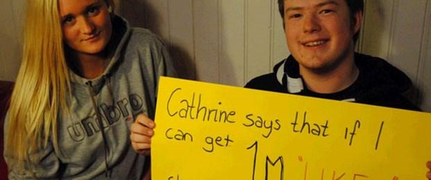 Cathrine 1 milyon 'like' istiyor