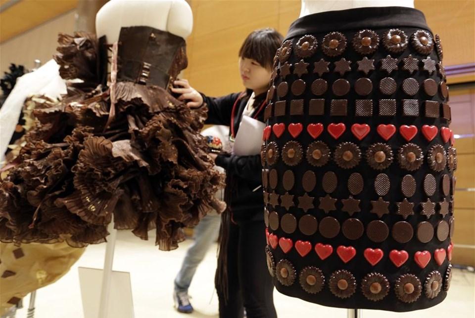 Çikolata gelinlik tasarladılar