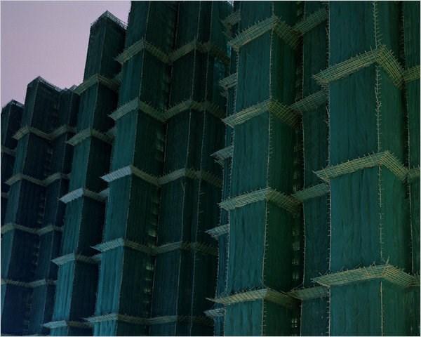 Çin binaları böyle dikiyor