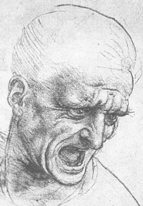 Da Vinci'nin bitmemiş eseriAnghiari Savaşı için hazırladığı çizimlerden biri.