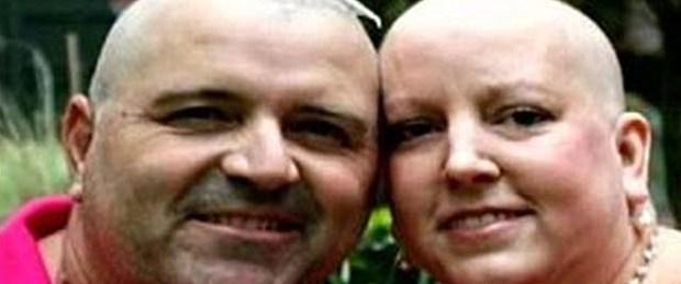 Destek için saçını kesen kocası da kanser oldu