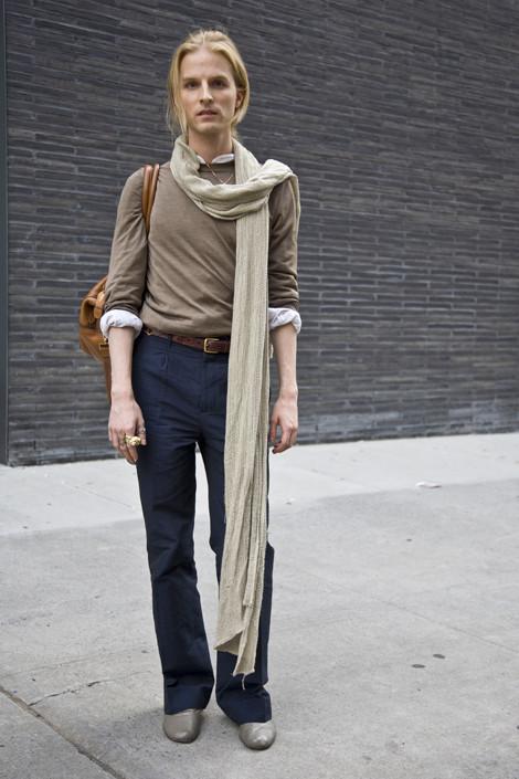 как носить длинные шарфы фото