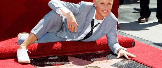 Ellen Degeneres Şöhretler Kaldırımı'nda