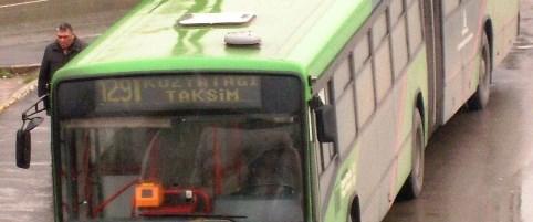 Geciken otobüs cep telefonuna gelecek