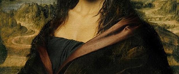 Genç yıldız sergi tanıtımı için Mona Lisa oldu