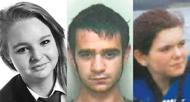 Siobhan Clarke, Kieran Hartley Anderson ve Sammy Clarke. 2 genç kız evlerinde kaçarak genç adamla buluştu.