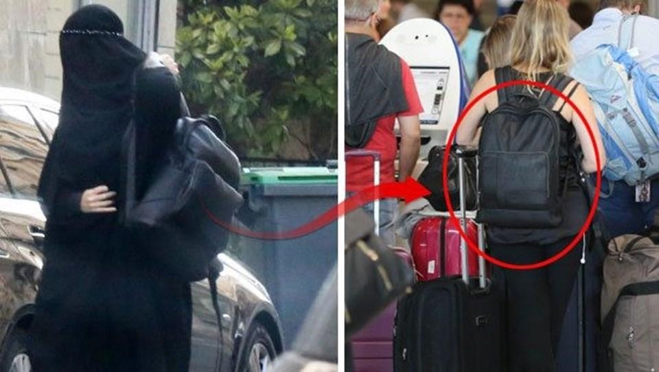 Daha önce kullandığı deri sırt çantası, burkayla kimliğini gizlemeye çalışan Giselle'i ele veren unsurlardan birisiydi.