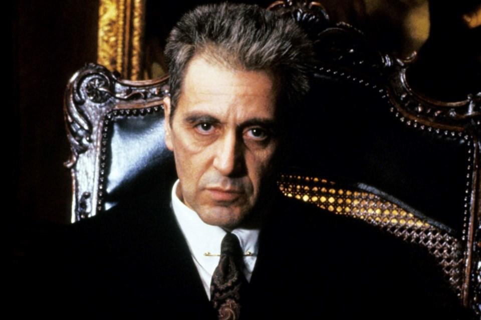 Al Pacino filmde, mafya babasının oğlu Michael Carleone'yi canlandırdı.