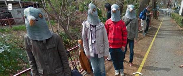 Google kamerasında 'güvercin insanlar'