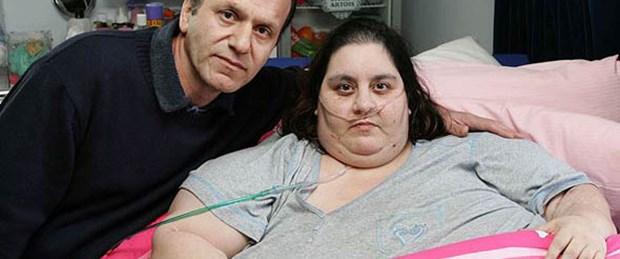 İngiltere'nin 'en şişman' kadını kalbine yenildi!