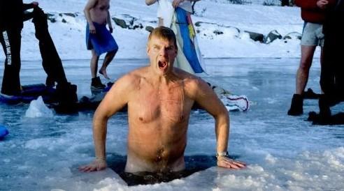 İyi seks için buza daldılar