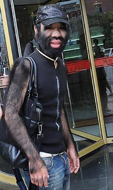 Wolfman hairy face