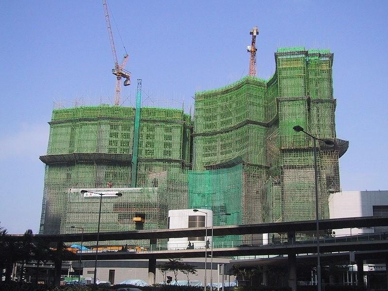 Modern binalara bambu yardımı