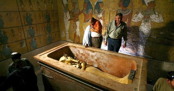 Mısır'da Tutankamon'un mumyası.