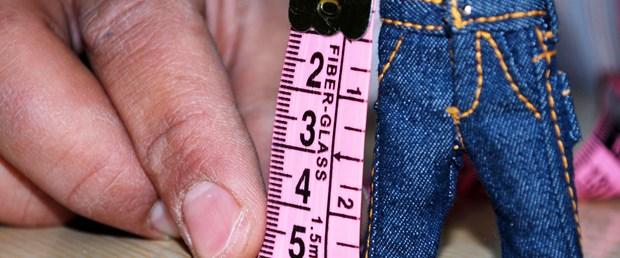 Normal bir pantolonun 20'de biri kadar