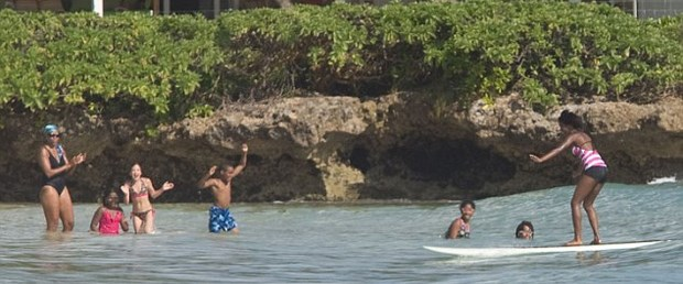 Obamalar'ın Hawaii keyfi