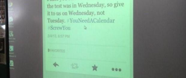 Öğretmenin Twitter intikamı
