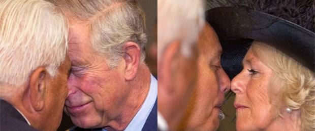Prens Charles ve eşinden 'Maori' selamı