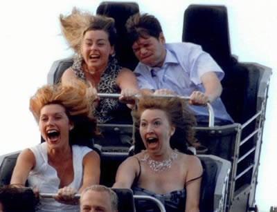 Roller-coaster kamerasına yakalananlar