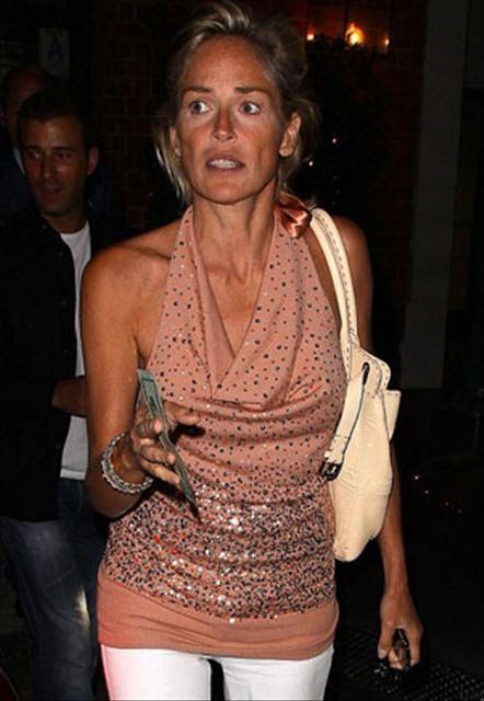 Sharon Stone'un gerçek halleri