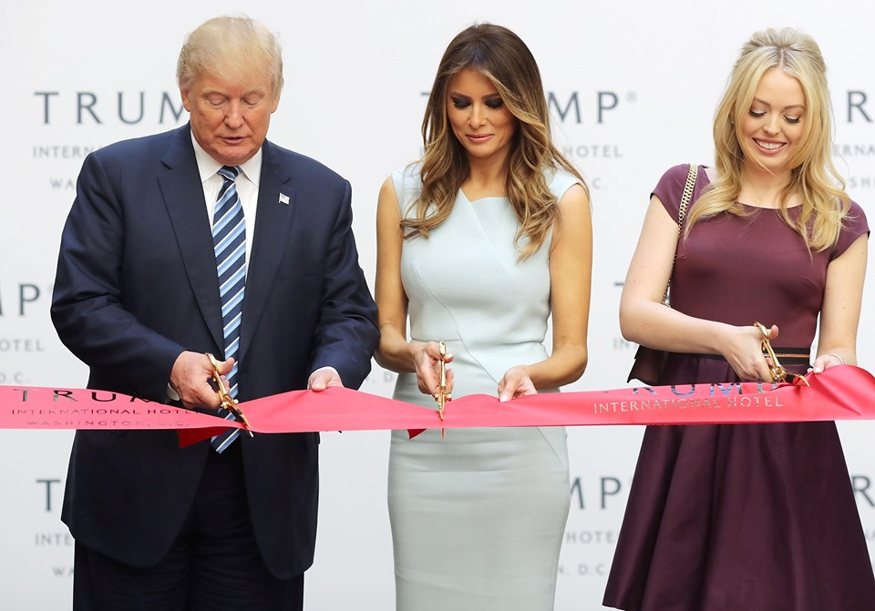 Donald Trump, Melania Trump ve Tiffany Trump