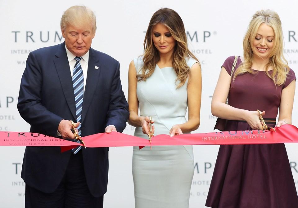 Donald Trump, Melania Trump ve Tiffany Trump