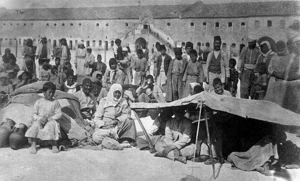 Halep'te Ermeni göçmenler 1918'de bile zor şartlar altında yaşıyordu.