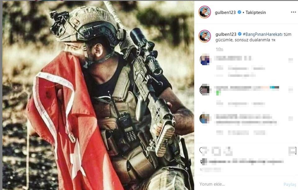 Instagram'da ünlüler, Ünlülerden Mehmetçik'e destek mesajları, Barış Pınarı Harekatı, Barış Pınarı Harekatı destek mesajları, ünlülerden Barış Pınarı Harekatı'na destek mesajları, TSK