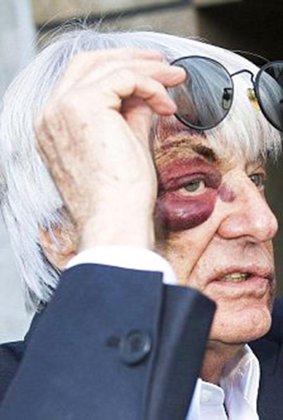 Saldırıdan 48 saat sonra Bernie Ecclestone ofisinde çalışmaya devam etti.
