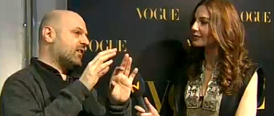 Ece Sükan,Paris Moda Haftası'nınünlü tasarımcılarına, Hüseyin Çağlayan'a ve onuizlemeye gelen Türklere mikrofonu uzattı.