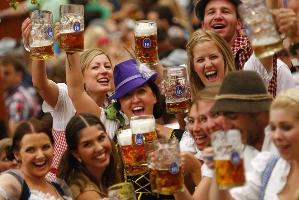 Yağmur Oktoberfest'e engel değil