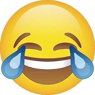 'Face with tears of joy' (Mutluluk göz yaşları)adı verilen bu emoji 2015'in en çok kullanılan emoji'si oldu.