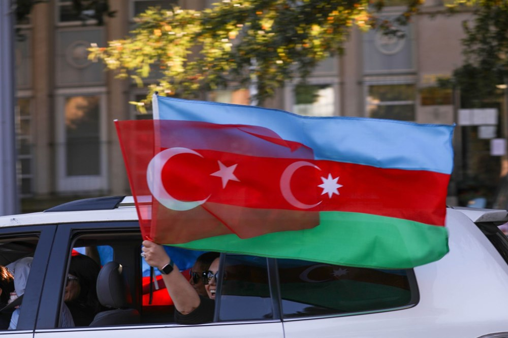 Beyaz Saray önünde Azerbaycan'a destek mitingi düzenlendi - 22
