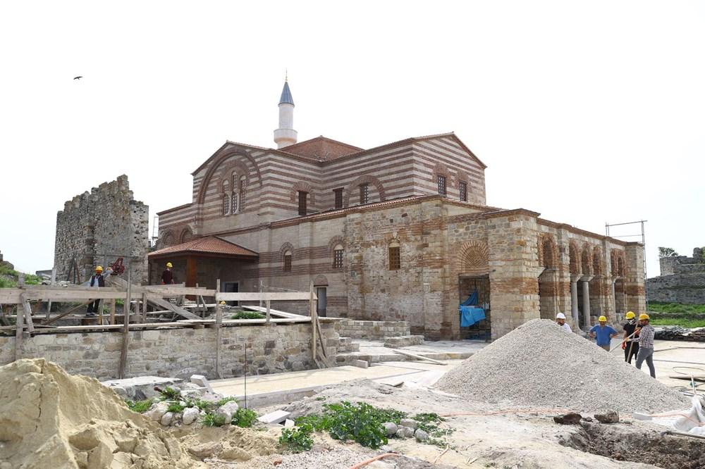 Edirne'deki tarihi Enez Fatih Camisi 56 yıl sonra ibadete açılıyor - 2