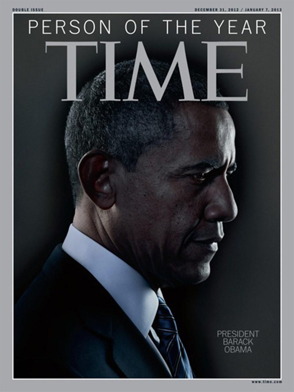 """Dünyaca ünlü Time dergisi, """"Yılın Kişisi"""" olarak seçtiğiBarack Obama için bu kapağı hazırladı."""