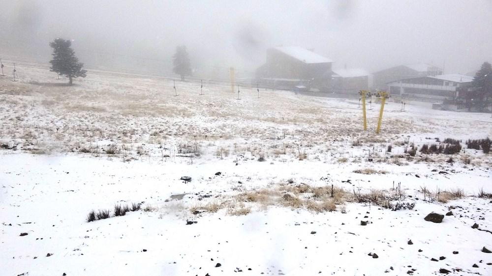 Uludağ'da kar yağışı tatilcileri sevindirdi - 9