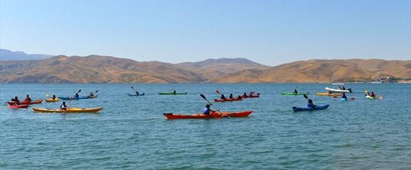 Tunceli'nin saklı cenneti Pertek su sporlarıyla şenlendi