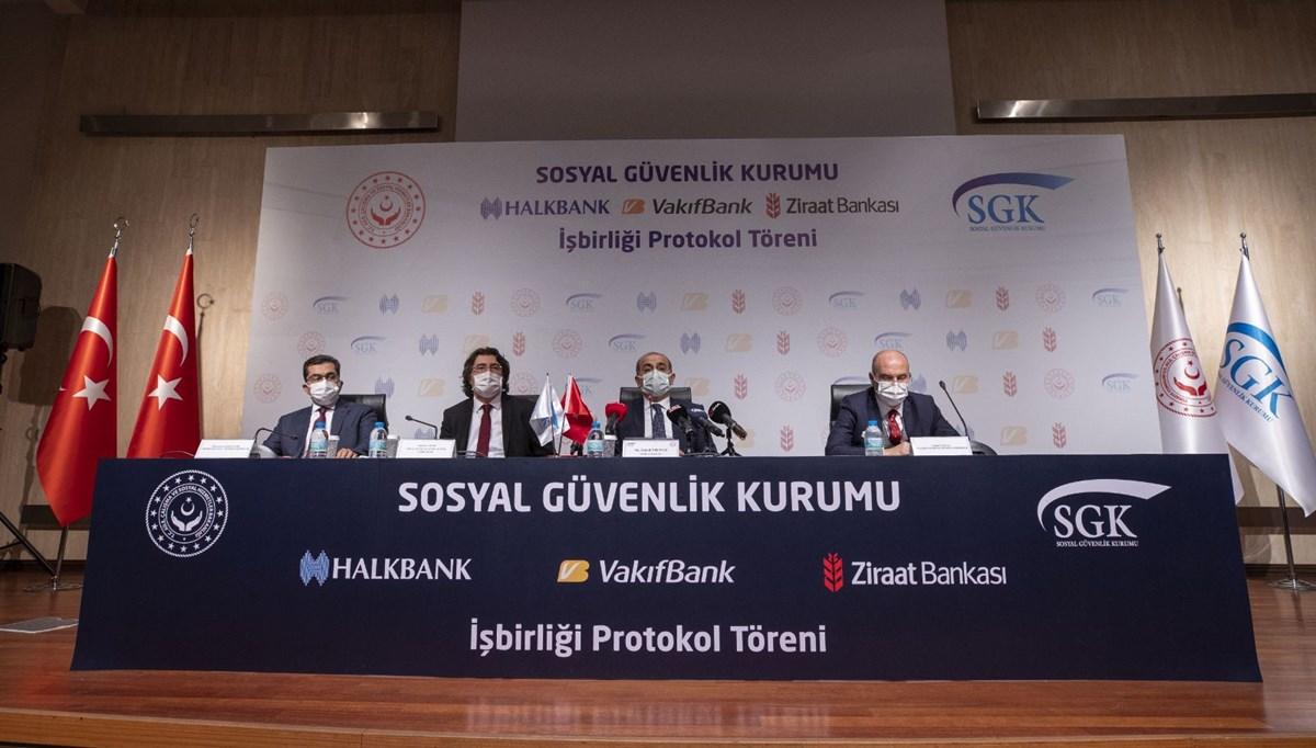 SGK ile 3 banka arasında emekli olabilecek sigortalılara yönelik