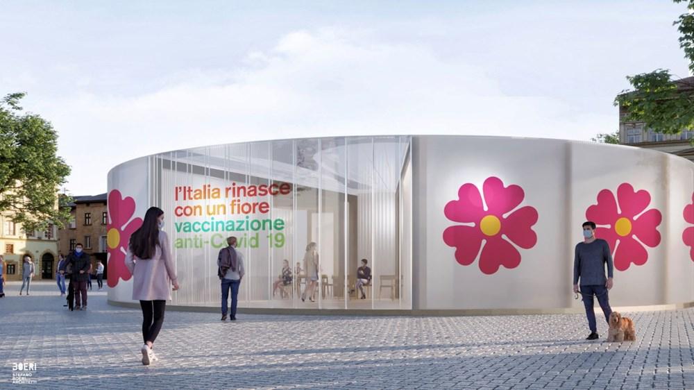 """İtalya'da """"halkın yenilenmesi""""ni simgeleyen aşı istasyonları kuruluyor - 1"""