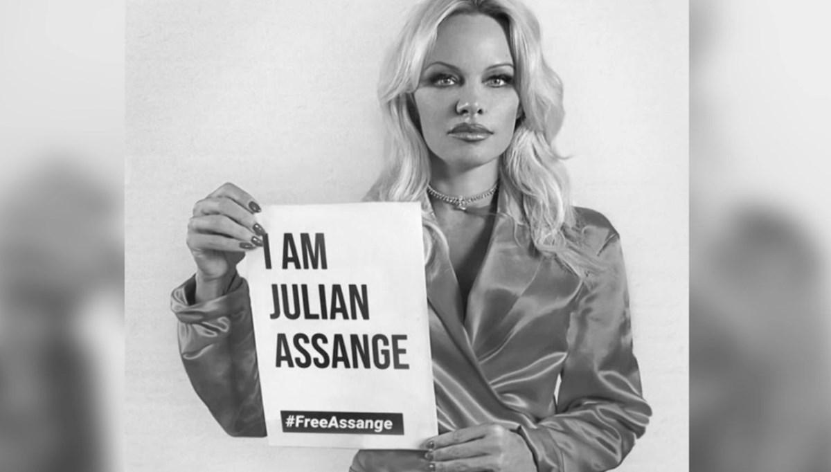 Hollywood yıldızı Anderson, Trump'ın Assange'ı af etmesini istedi