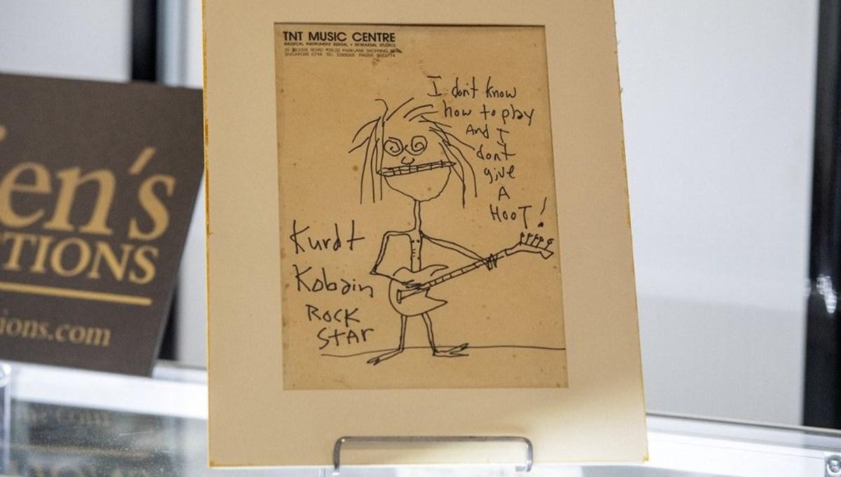Kurt Cobain'in çizimi 281 bin dolara satıldı