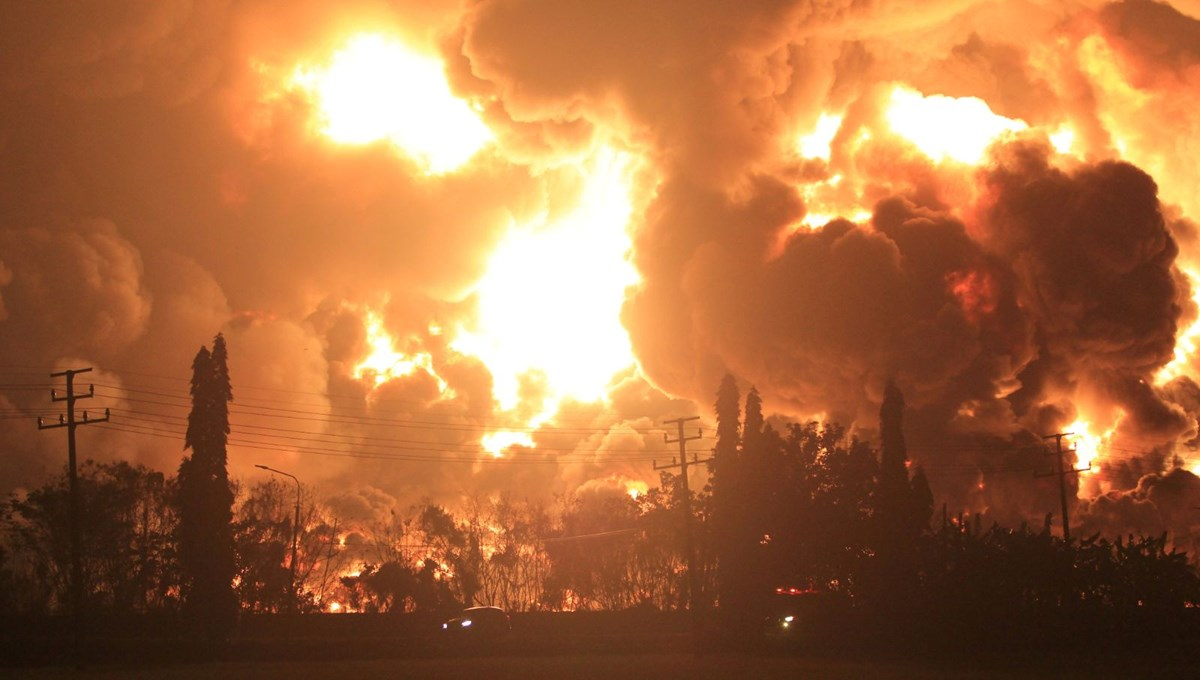 Oil refinery explosion in Indonesia