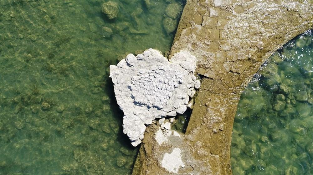 Sular çekilince 2 bin yıllık bazilikanın bir kısmı gün yüzüne çıktı - 6