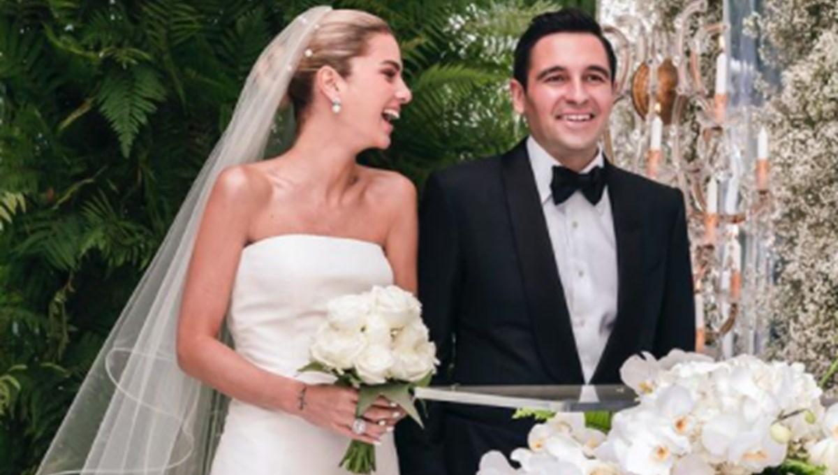 Hacı Sabancı ve Nazlı Kayı evlendi