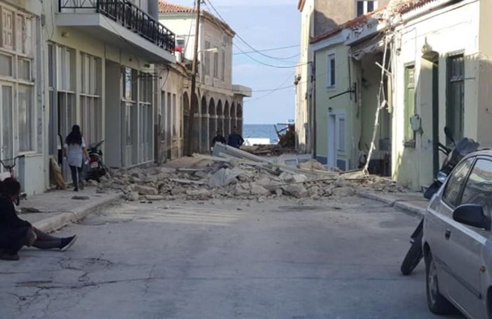 Depremin merkez üssü Yunan adası Sisam'dan ilk fotoğraflar - 7